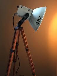 Photographers Tripod Floor Lamp Bronze Finish by Tripod Lamp Smith Victor Lamp Photography Lighting Industrial