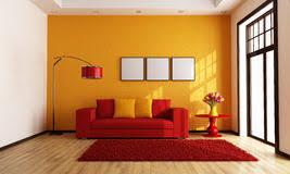 and orange living room stock illustration illustration