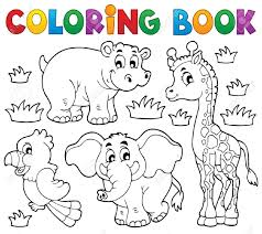 Marvelous Idea Coloring Book Animals Images Stock Pictures Royalty Free