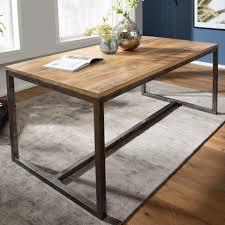 finebuy esstisch fb58162 esstisch 180x77x89 cm mango massivholz metall vintage küchentisch tisch massiv groß holztisch esszimmer großer