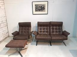 mid century sessel sofa fußhocker set ebbe gehl søren nissen für jeki møbler 3er set