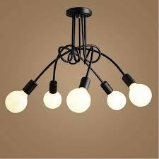 kreative eisen deckenleuchten led len europäischen wohnzimmer crooked deckenleuchten schwarz weiß e27 led glanz licht decke le