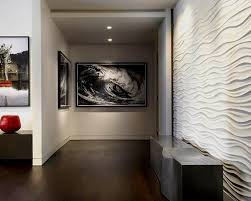 Extraordinary Design Wavy Wall Tiles Impressive 3d Decoration In Aisle Featuring Narrow Panel And