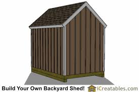 8x12 Storage Shed Blueprints by 8x12 Colonial Large Door Shed Plans Backyard Storage Shed Plans