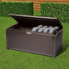 resin wicker deck box 73 gallon brown suncast target