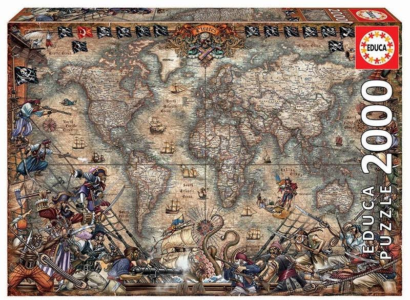 Educa Pirates Map Jigsaw Puzzle - 2000pcs