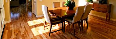 Lustrous Hardwood Floor In A Family Dining Room