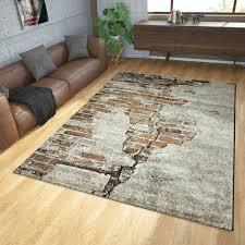 teppich modern stein design braun