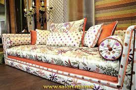 tissu canapé marocain salon marocain fleuri chaios com