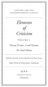 Elements Of Criticism Vol 1