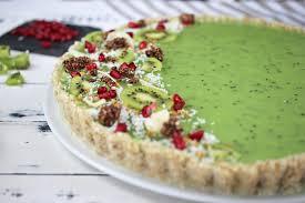 vegane kiwi kokos tarte no bake cake