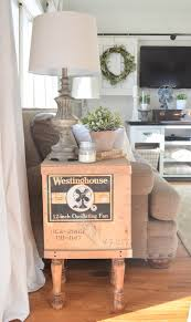 Vintage Wooden Crate Side Table