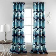 Brylane Home Sheer Curtains by Blue Atlantis Curtain Set Of Two Atlantis Life And Look At