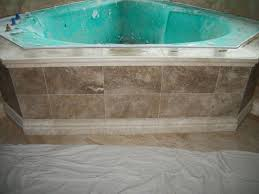 Tiling A Bathtub Skirt by Travertine Tile Corner Garden Tub U2022 N Koehn Tile U2022 El Campo Tx