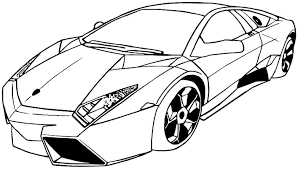 Lamborghini Coloring Pages Page To Print Peruclass Line Drawings
