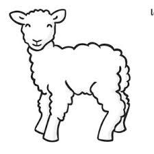 Spring Lamb Coloring Page