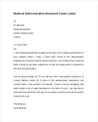 Admin Assistant Cover Letter Medical Administrative Assistant Cover