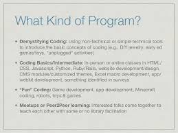 Coding as a Practical Library Program