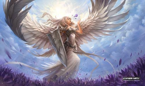 Gamermats - Angel in White by sandara