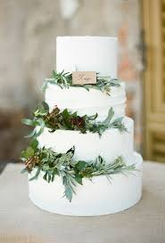 A Traditional Wedding Cake Goes Country Chic With Rustic Greenery