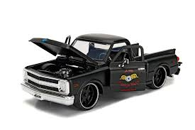 100 Just Trucks Amazoncom Jada 1969 Chevrolet C10 Stepside Pickup Truck Matt Black