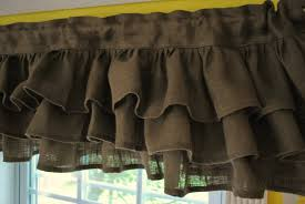 Pink Ruffle Curtain Topper by Curtain Valance Brown Decorate The House With Beautiful Curtains
