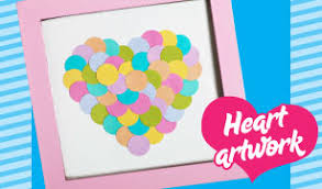 Girls DIY Craft Ideas Framed Heart Art