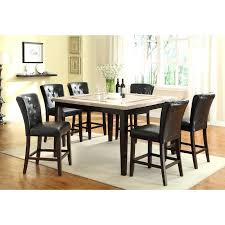 Counter Height Dining Room Chairs Espresso Contemporary 5 Piece Set Furniture Store Leahlyn