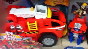 FIRE ENGINE TOY RESCUE BOTS - YouTube