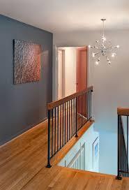 Gray Accent Wall At Dfeacebebc Hallway Chandelier Sputnik