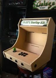 bartop tabletop arcade cabinet diy kit flat pack mdf w marquee