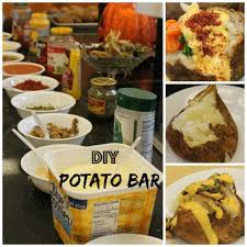 Restaurant Baked Potatoes For A Crowd {DIY Potato Bar) | Recipes ... 15 Frugal Meals For A Small Grocery Budget Baked Potato Bar Twice Potatoes With Bacon And Cheddar Simple Awesome Best 25 Ideas On Pinterest Potato Used A Fully Loaded Guide To The Ultimate Serious Eats Potatoes Baked Grilled Bar Platings Pairings Picmonkey Image 31 Office Lunch French Fry The Pioneer Woman Easy Skins Recipe Cwhound Sweet Healthy Ideas For Kids