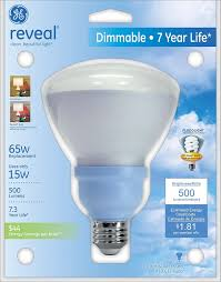 ge lighting 63522 reveal cfl r30 dimmable floodlight bulb with