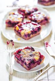 Blueberry Pie Bars Super soft easy bars with a creamy filling streusel topping