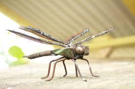 Patio Tuerca Panama Direccion by 6 Emperor Dragonfly Scrap Metal Sculpture Welded Unique