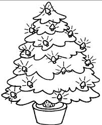 Small Christmas Tree With Bulb Coloring Page