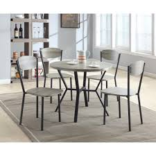 Details About 5-Piece Round Dining Table & Chair