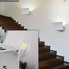 led wand leuchte rechteckig alu glas design le treppenhaus beleuchtung licht