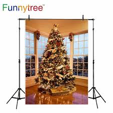 Wholesale Backgrounds For Photography Studio Christmas Tree Decor Window Indoor Gift Room Professional Backdrop Photobooth