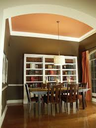 Dining Room Vaulted Ceiling With And Bookcases HGTV