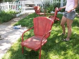 refurbish metal lawn chairs appreciating up