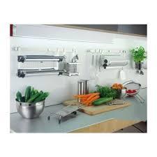 barre credence cuisine de cuisine porte ustensiles inox 45 à 60 cm rosle