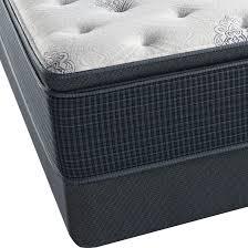 Serta Simmons Bedding Llc by Beautyrest Silver Navy Pier Plush Queen Pillowtop Mattress
