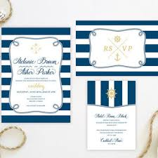 Nautical Wedding Invitation Sets Printed