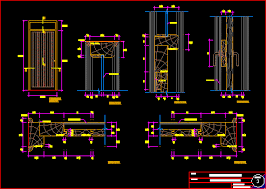 493x351 Wood Baffle Door Details DWG Detail For AutoCAD AEURc Designs CAD