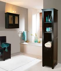 Baby Blue And Brown Bathroom Set by Elegant Bathroom Decor White And Light Warm Paint Dark Brown