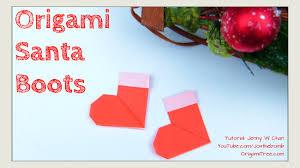Christmas Crafts DIY Origami Stockings Santa Boots Paper Kids