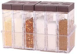6er set salz und pfefferstreuer gewürzbox kunststoff cing gewürzbox für aufbewahrung küche gewürze