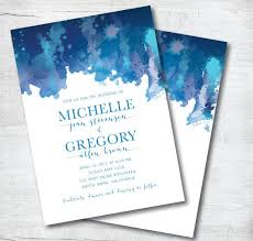 Beach Wedding Invitation Printable Destination Blue Template DIY