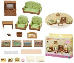 epoch sylvanian families wohnzimmer mit fernseher